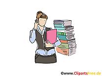 Femme d'affaire clip arts gratuits – Bureau illustrations
