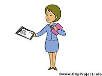Femme d'affaire image gratuite – Bureau illustration