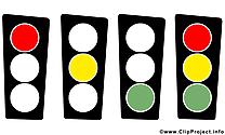 Feu tricolore bureau illustration gratuite