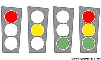 Feu tricolore dessin gratuit – Bureau image