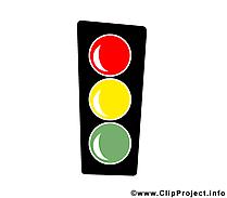 Feu tricolore illustration gratuite – Bureau clipart