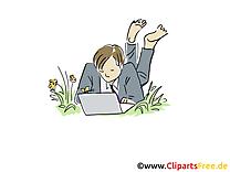 Freelance image gratuite – Bureau illustration