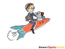 Fusée carrière illustration gratuite – Bureau clipart