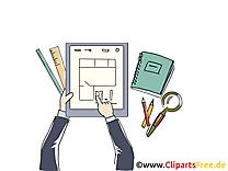 Image gratuite plan – Bureau clipart