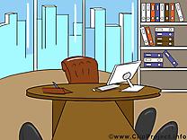 Lieu de travail dessin – Bureau clip arts gratuits