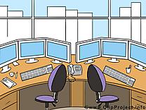 Lieu de travail dessin gratuit – Bureau image