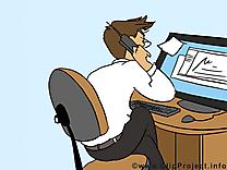 Lieu de travail image à télécharger – Bureau clipart