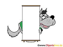 Loup conférence image – Bureau images cliparts