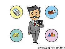 Manager image – Bureau images cliparts