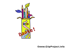 Merci crayons image gratuite – Bureau illustration