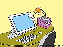 Ordinateur bureau illustration à télécharger gratuite