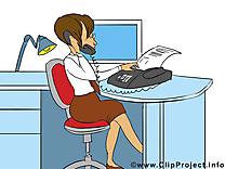 Secrétaire dessins gratuits – Bureau clipart