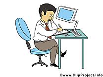 Travail image – Bureau images cliparts