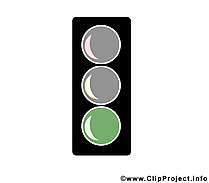 Vert feu illustration – Bureau images