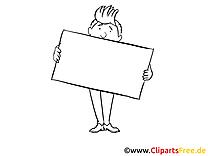 Bannière dessin à colorier – Entreprise à télécharger