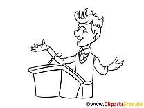Conférence dessins à imprimer – Entreprise clipart