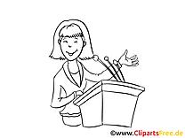 Dessin à colorier femme – Entreprise image
