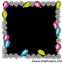 Ballons clip art – Cadre image gratuite