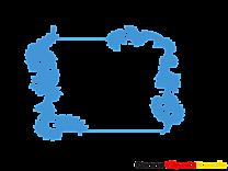 Bleu dessin – Cadre clip arts gratuits