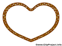 Coeur clip art gratuit – Cadre dessin