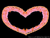 Coeur dessin – Cadre cliparts à télécharger