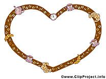Coeur dessins gratuits – Cadre clipart
