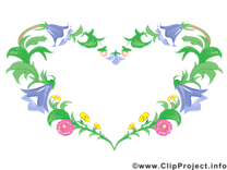 Coeur images gratuites – Cadre clipart