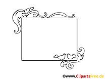 Colombes image à imprimer – Cadre illustration