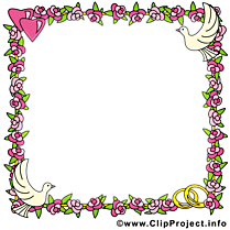 Fleurs clip arts gratuits – Cadre illustrations