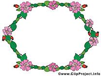 Fleurs cliparts gratuis – Cadre images