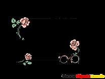 Paris roses illustration – Cadre images