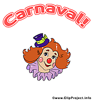 Carnaval clown illustration à télécharger gratuite