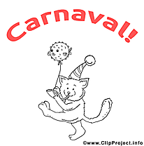 Chat clip art à imprimer – Carnaval images