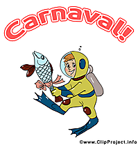 Poisson image à télécharger – Carnaval clipart
