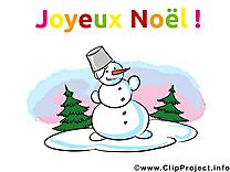 Bonhomme de neige image, noel card, clipart gratuite