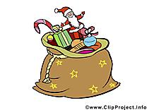 Cadeaux de Noël card, clipart, image