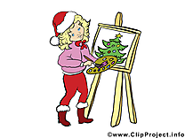 Christmas image, card, clipart gratuite