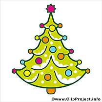 Clip art Sapin de Noël gratuite