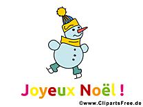 Clipart bonhomme de neige