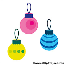 Décorations de Noël cliparts, images gratuit