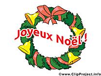 Guirlande de Noël clipart gratuit
