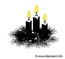 Guirlande de Noël image, card, clipart gratuite