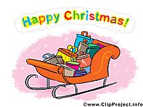 Luges cliparts gratuis – Noël images