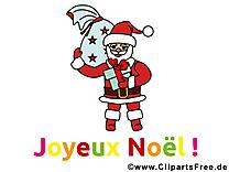 Père Noël image, card, clipart gratuite