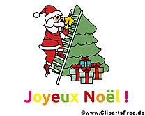 Santa Claus clip art de noël, image, e-card