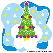 Sapin de Noël cliparts, images, cards gratuite