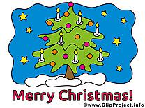 Sapin dessin - Noël clip arts gratuits