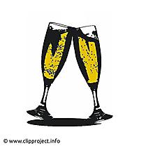 Verres à vin clip art, image, card gratuite