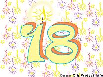 18 ans illustration gratuite – Anniversaire clipart