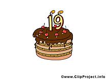 19 ans dessin gratuit – Anniversaire image